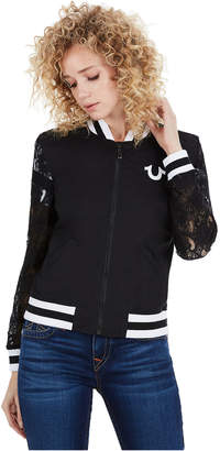 True Religion LACE BOMBER WOMENS JACKET