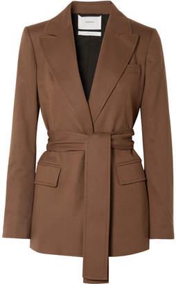 CASASOLA - Belted Wool Blazer - Chocolate