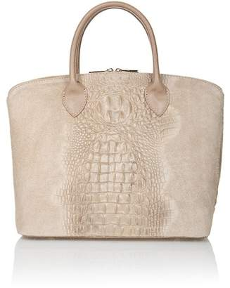 Lisa Minardi Croc Embossed Satchel