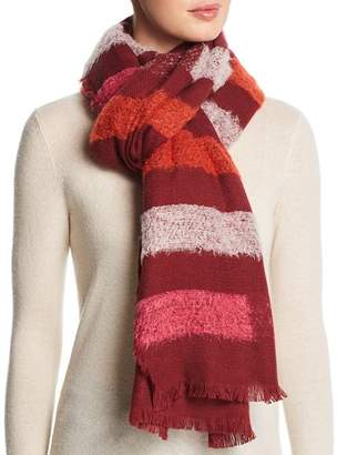 Echo Fuzzy Stripe Wrap
