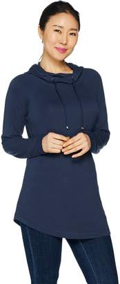 Isaac Mizrahi Live! SOHO Knit Long Sleeve Hooded Tunic