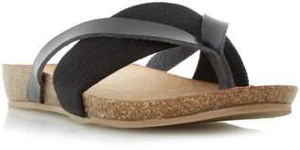 Head Over Heels Liliana elastic strap flat sandals