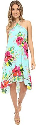 Trina Turk Women's Kairo Watercolor Hibiscus Silk Crepe De Chine Dress $59.99 thestylecure.com
