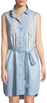 Velvet Heart Rosa Chambray Sleeveless Shirtdress, Medium Blue