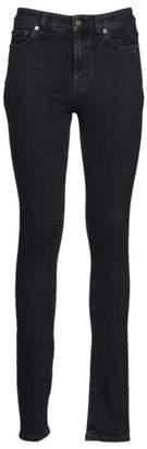 Saint Laurent Paris Skinny 5 Pocket Mid Waist