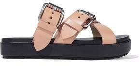 Alexander Wang Kriss Buckled Leather Platform Sandals