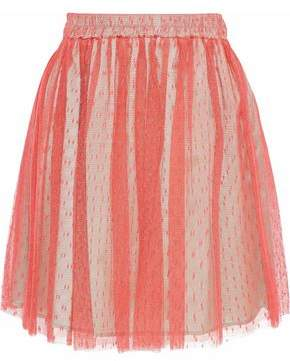 RED Valentino Pleated Point D'esprit Mini Skirt