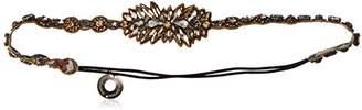 Deepa Gurnani Crystal Fireworks Headwrap -