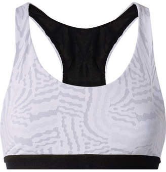 Koral Galaxy Stretch Jacquard-knit Sports Bra - White