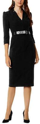 Karen Millen Forever Belted Sheath Dress