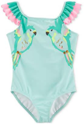 Carter's Little & Big Girls 1-Pc. Ruffled Birds Swimsuit