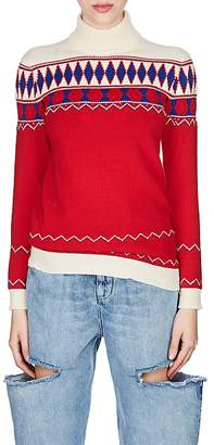 Maison Margiela Women's Fair Isle Wool Turtleneck Sweater