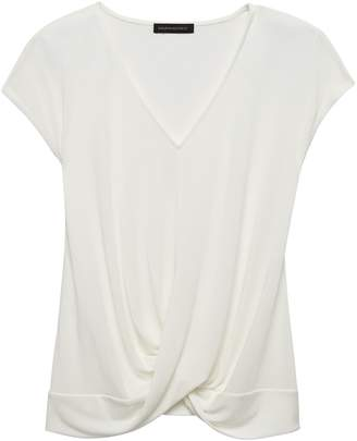 Banana Republic Sandwashed Modal Blend Twist-Front Top