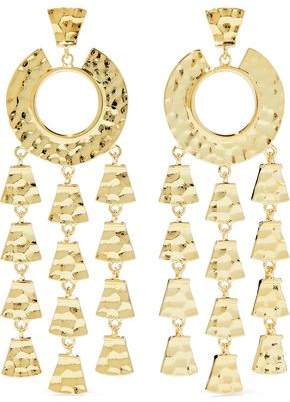 Noir Hammered Gold-tone Earrings