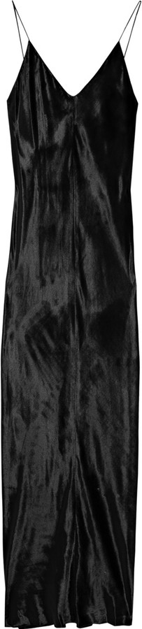 T by Alexander Wang Panne-velvet maxi dress