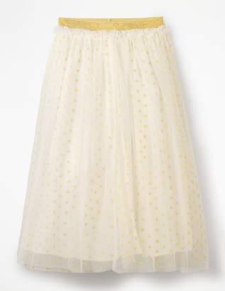 Lurex Spot Tulle Skirt