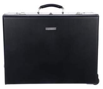 Trussardi Leather Travel Suitcase