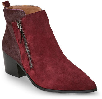 Tahari Wine Rockstar Pointed Toe Ankle Booties