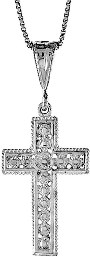Sabrina Silver Sterling Silver Cross Pendant, 1 1/4 inch