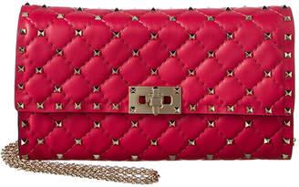 Valentino Rockstud Quilted Leather Shoulder Bag