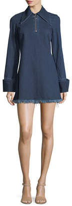 Marques Almeida Marques'Almeida Janis Fringed Denim Shirtdress