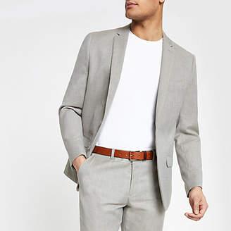 River Island Mens Light Grey slim fit suit jacket