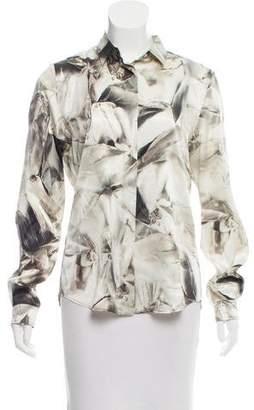 Barbara Bui Printed Silk Button-Up
