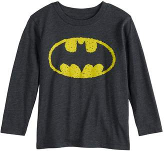 Justice Toddler Boy Jumping Beans DC Comics Batman Scribble Logo Graphic Tee