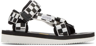 Suicoke Black and White Depa-V2 Sandals