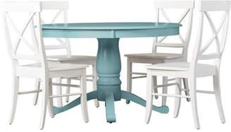Beachcrest Home Stock Island 5 Piece Pedestal Dining Set