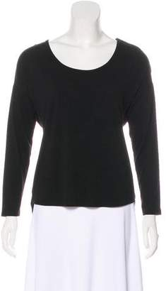 Neiman Marcus Pleated Knit Top
