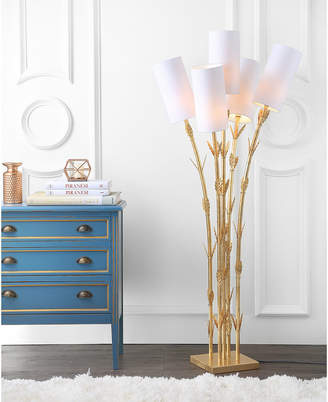 Bamboo 5-Light Brass Led Floor Lamp