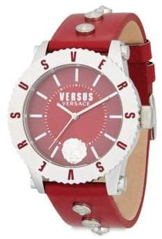Versace Lion Head Leather-Strap Watch