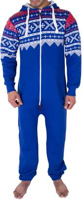 Noroze Mens Stylish All in One Jumpsuit Onesie One Piece Pajamas(S, )