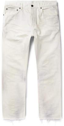 John Elliott The Kane 2 Distressed Denim Jeans - Men - Off-white