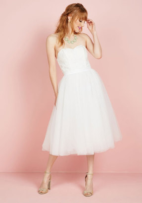 A Love Above the Rest Fit and Flare Dress in White in 26 $69.99 thestylecure.com