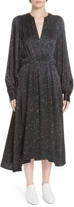 Vince Constellation Print Poet Midi Dress