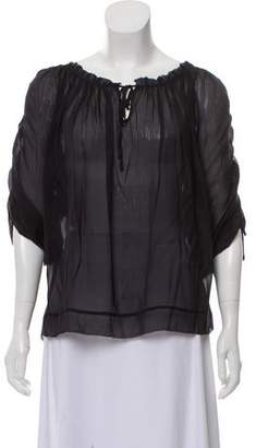 Marc Jacobs Silk Semi-Sheer Blouse