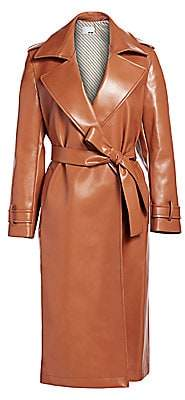 Each X Other Women's Vegan Leather Trench Coat