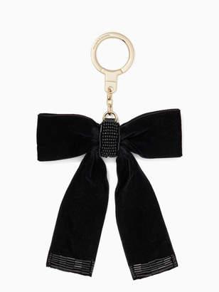 Kate Spade velvet bow keychain