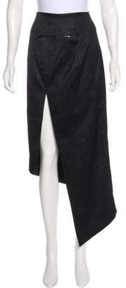Thomas Wylde Embossed Asymmetrical Skirt