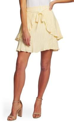 da7b01472 CeCe Jacquard Stripe Ruffle Skirt