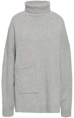 Tibi Melange Cashmere Turtleneck Sweater