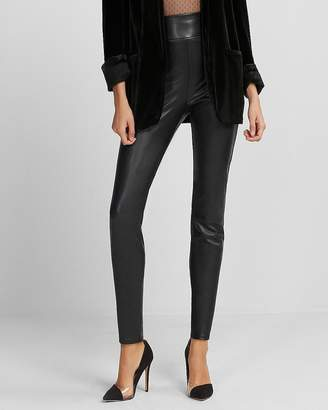 Express Super High Waisted (Minus The) Leather Leggings