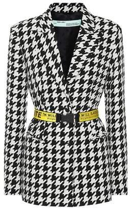 Off-White Houndstooth wool-blend blazer