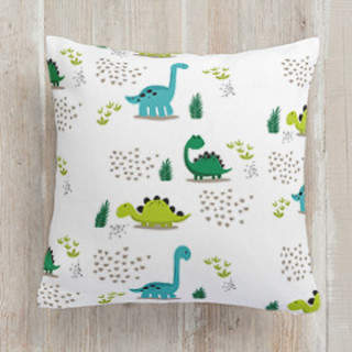 Roaming Dinosaurs Square Pillow