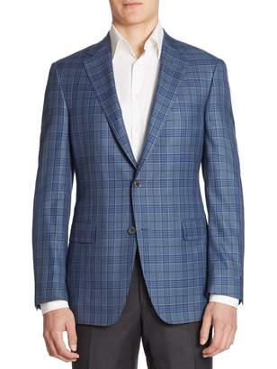 Saks Fifth Avenue BY SAMUELSOHN Classic-Fit Plaid Wool Sportcoat