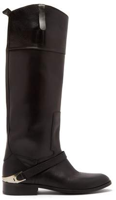 Golden Goose Charlye Leather Knee High Boots - Womens - Black