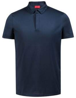 HUGO Boss Slim-fit polo shirt in mercerized single-jersey cotton M Dark Blue