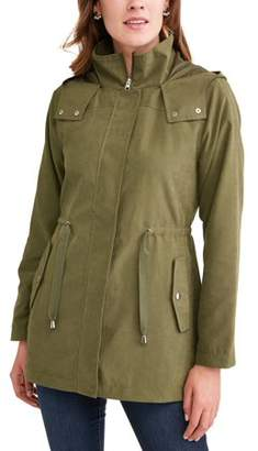 Time and Tru Women's Hooded Anorak Utility Jacket